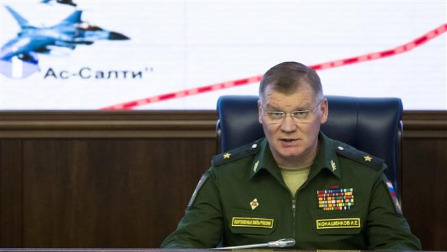Russian Defense Ministry spokesman Major General Igor Konashenkov speaks at a briefing at the ministry's headquarters in Moscow, Russia, October 20, 2016. (Photo by AP)