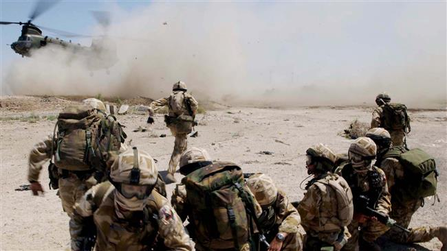 This file photo shows British soldiers in Iraq.