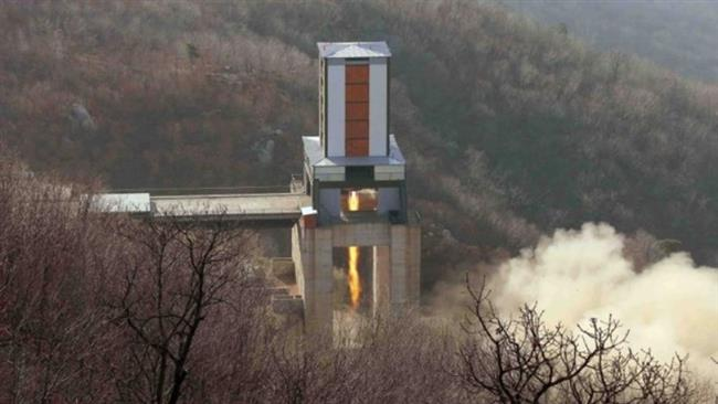 A new engine for an intercontinental ballistic missile (ICBM) is seen being tested at a site at Sohae Space Center in North Pyongan Province in North Korea in this undated photo released by North Korea's Korean Central News Agency (KCNA) on April 9, 2016. (Via Reuters)