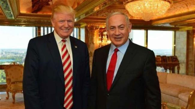 Israeli Prime Minister Benjamin Netanyahu (R) and then-US President-elect Donald Trump meet at Trump Tower in New York, September 25, 2016. (Photo by AFP)