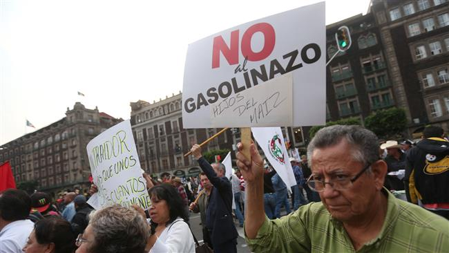 Mexico protest gas price