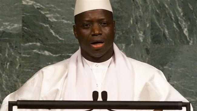 This file photo taken on September 8, 2000 at the United Nations in New York shows Gambian President Yahya Jammeh addressing the United Nations Millennium Summit. (Photo by AFP)