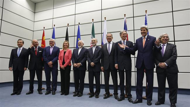 Iran nuclear deal negotiators pose for a group picture at the United Nations building in Vienna, Austria July 14, 2015.