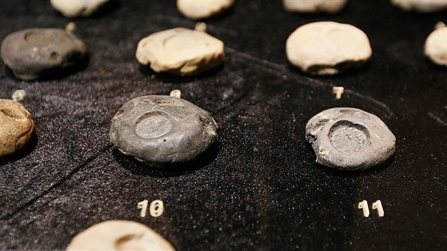 A collection of ancient coins repatriated from the US are on display at the National Museum of Iran in Tehran on February 06, 2017. (Photos via Mizan Online News Agency)