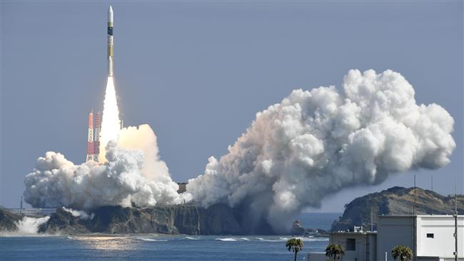 A H-IIA rocket, carrying a government's information gathering radar satellite, lifts off from the launching pad at Tanegashima Space Center on the Japanese southwestern island of Tanegashima, Japan, on March 17, 2017. (Photo by Reuters)