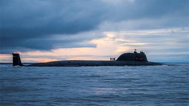 A file photo of a Russian Yasen-class submarine