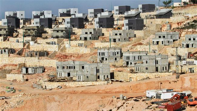 This file picture, taken on February 8, 2017, shows a general view of a construction site in the Israeli settlement of Na'ale, near the West Bank city of Ramallah. (By AFP)