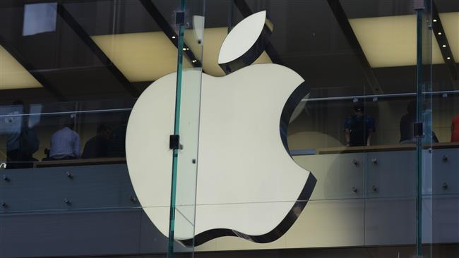 This image shows the Apple logo at a store in the central business district of Sydney, Australia, on April 6, 2017. (Photo by AFP)
