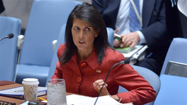 This AFP file photo taken on April 7, 2017 shows US Ambassador to the UN, Nikki Haley, at the UN headquarters in New York.