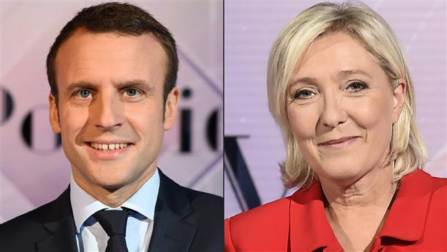 Centrist Emmanuel Macron topped the initial polls on April 23, 2017 and looked well on course to beat far-right candidate Marine Le Pen in a run-off on May 7. (Photo by AFP)