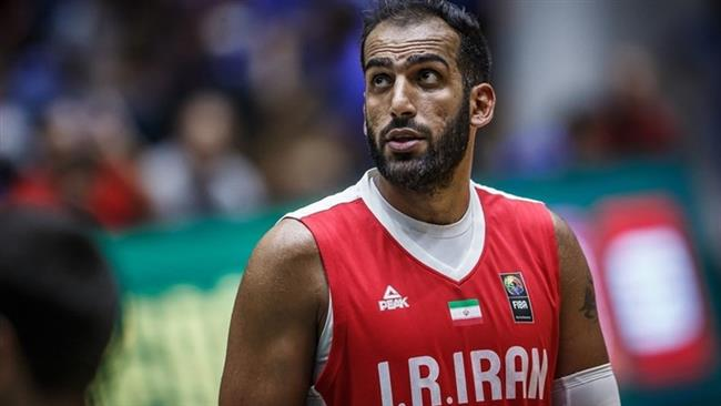 Iranian professional basketball player Hamed Haddadi (file photo)