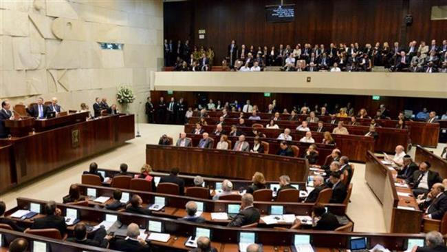 A view of a session of Israel's Knesset
