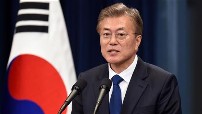 South Korea's new President Moon Jae-In speaks during a press conference at the presidential Blue House in Seoul on May 10, 2017. (Photo by AFP)