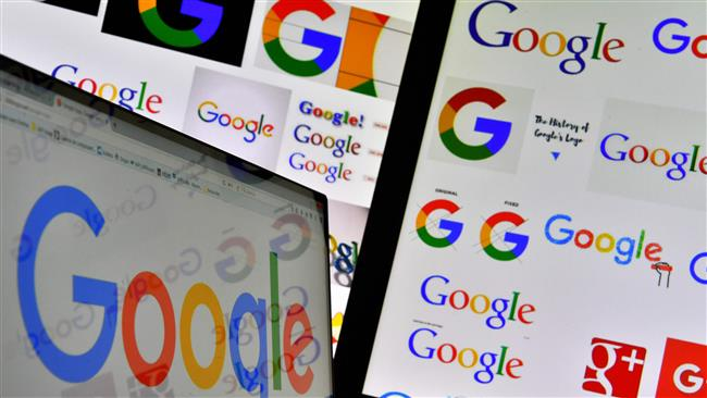 This file photo taken on November 20, 2017 shows logos of US technology company Google displayed on computer screens. (Photo by AFP)