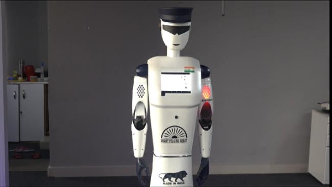 Indian company H-Bots Robotics has launched its new fully automated 'Robocop' robot (shown).