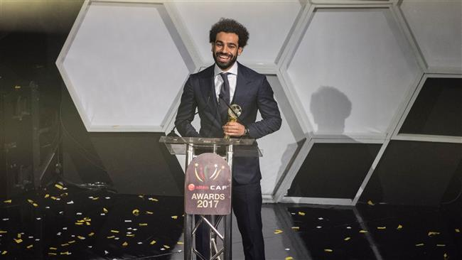 African Footballer of the Year,  Egypt and Liverpool striker Mohammed Salah speaks during a press conference after the CAF awards at the Accra International Press Conference in Accra, on January 4, 2018. (AFP)