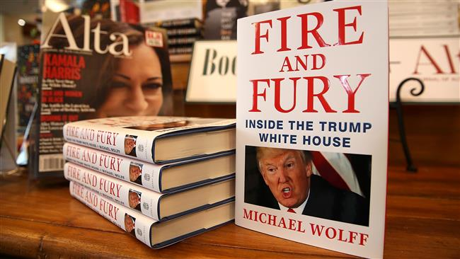 "Copies of the book ""Fire and Fury"" by author Michael Wolff are displayed on a shelf at Book Passage on January 5, 2018 in Corte Madera, California. (AFP)"
