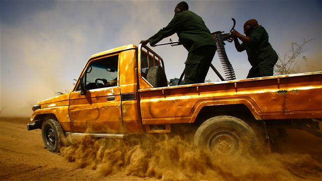 Sudanese border security forces patrol the Sudan-Eritrea border near the eastern Sudanese border town of Kassala on May 2, 2017. (Photo by AFP)