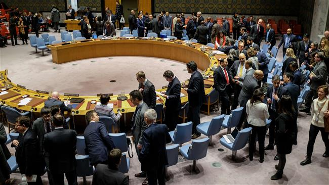 Delegations arrive for the start of a UN Security Council meeting concerning the situation in Iran, January 5, 2018 in New York City. (Photo by AFP)