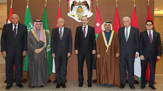 The foreign ministers of six Arab countries met for talks on Jerusalem in the Jordanian capital Amman on January 6, after US President Donald Trump recognized the city as Israel. (Photo by AFP)