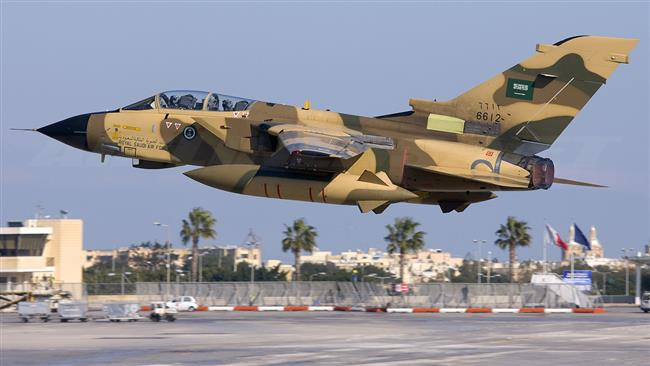 This file picture shows a Panavia Tornado combat aircraft belonging to the Royal Saudi Air Force.