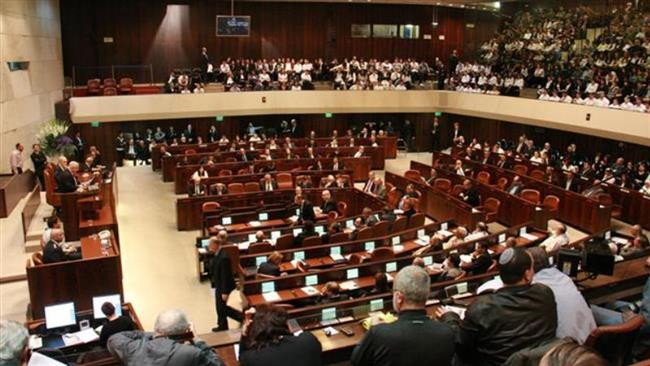 The file photo shows a view of the Israeli parliament, Knesset.