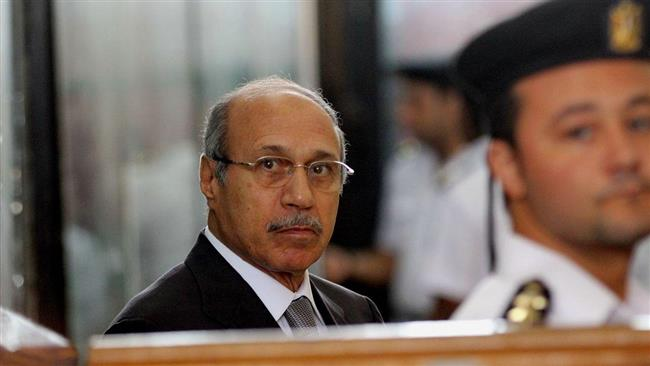 This April 19, 2016 photo shows former Egyptian interior minister Habib al-Adly attending his trial on the charges of corruption, in Cairo, Egypt. (Photo by AP)