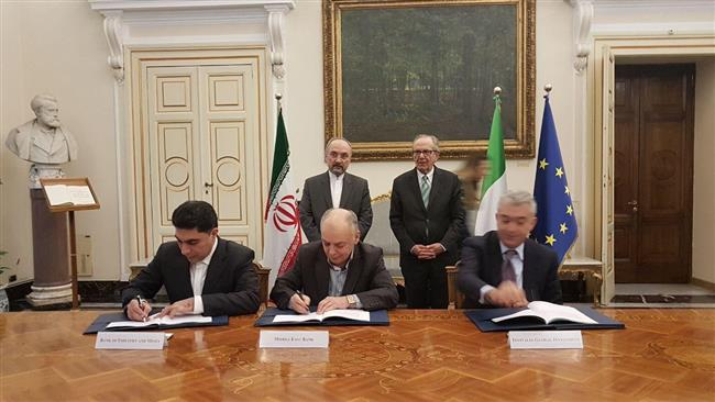 Iran and Italy have signed a major framework credit agreement worth €5 billion which Tehran says is the biggest ever such agreement signed with a European country.