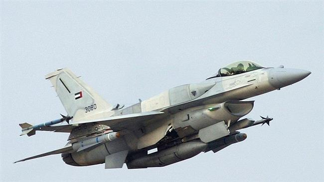The file photo of an F-16E fighter jet belonging to the UAE air force