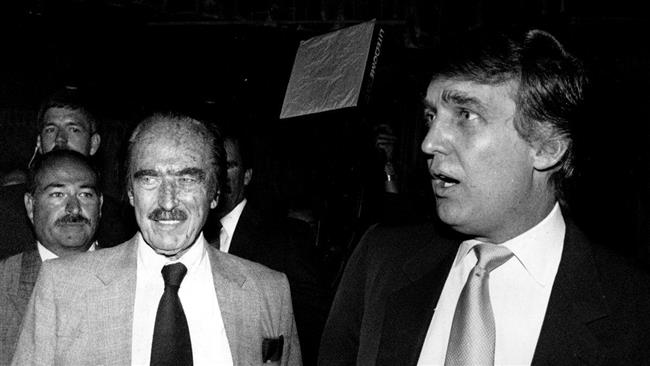 Donald Trump (right) and his father, Fred Trump (File photo)