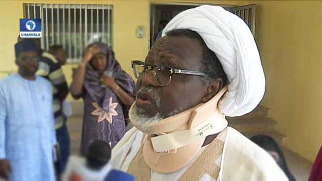 Leader of the Islamic Movement in Nigeria Sheikh Ibrahim Zakzaky speaks to journalists in an unknown location, January 13, 2018. (Photo by local media)