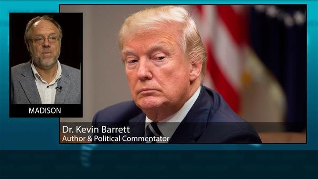"""The problem of course is that Trump has no idea what's in the deal. He doesn't read anything,"" Kevin Barrett said in an interview on Saturday."