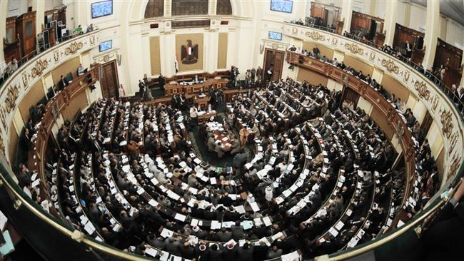 File photo shows a general view to the Egyptian parliament.