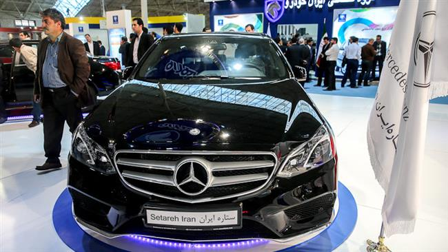 Iran Khodro presents Mercedes-Benz products at Tabriz Autoexpo 2014.