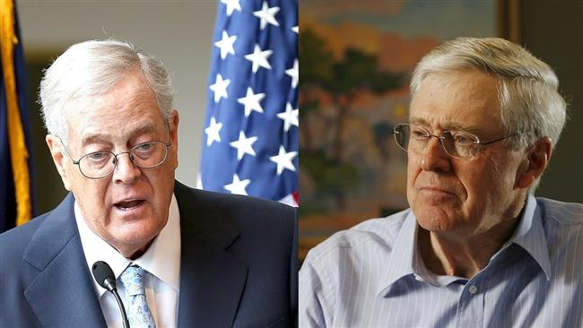 Republican mega donors Charles and David Koch (L)